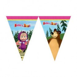 Trouglasti baner (9 zastavica) Masha and Bear