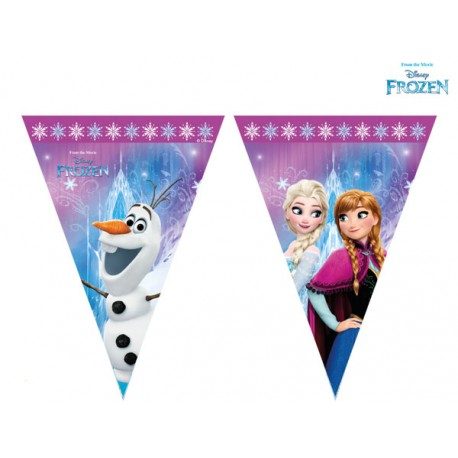 Trouglasti baner (9 zastavica) Disney Frozen Northern Lights