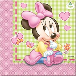 Minnie Mouse Baby salveta 2 slojna 33 x 33 cm 1/20