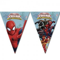 Spiderman party trouglasti baner - 9 zastavica