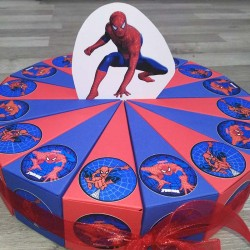 Spiderman torta od kartona 1 sprat